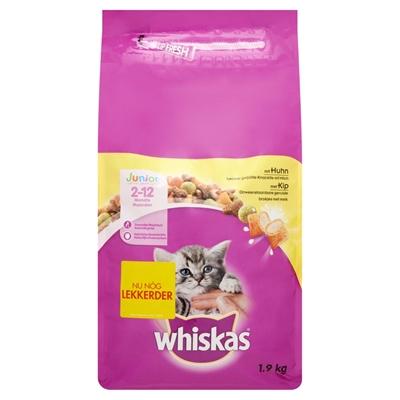 Whiskas droog junior kip (1,9 KG)