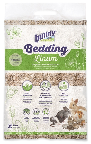 Bunny nature bunnybedding linum vlasvezel (35 LITER)