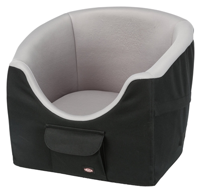 Trixie hondenmand autostoel zwart / grijs (45X42X39 CM)