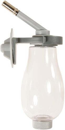 Zolux neo drinkfles van bovenaf te vullen grijs (250 ML)