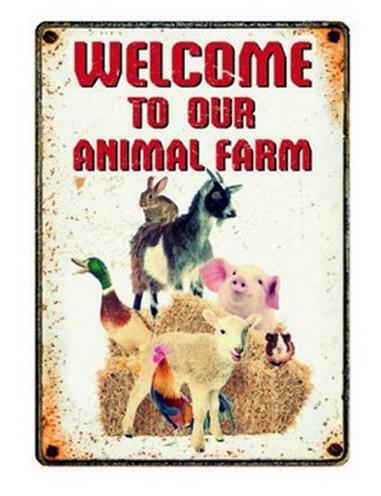 Plenty gifts waakbord blik farm welcome (15X21 CM)