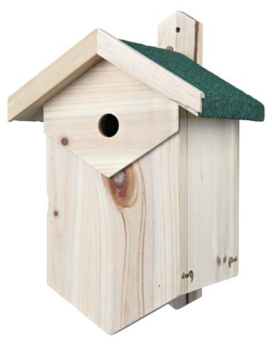 Trixie nestkast voor holenbroeders (Ø 2,7 CM 25X22X40 CM)