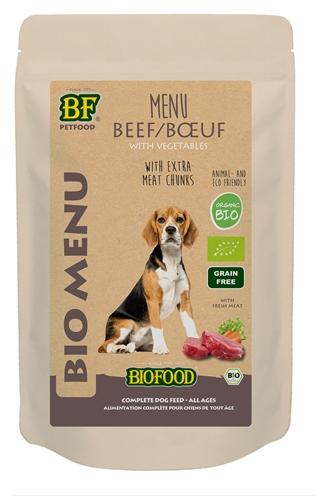 Biofood organic hond rund menu pouch (15X150 GR)