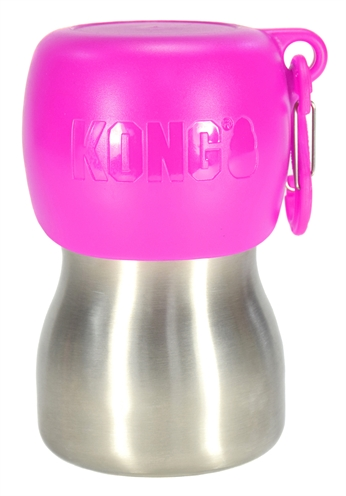 Kong h2o drinkfles rvs roze (280 ML)