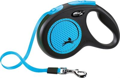 Flexi rollijn new neon tape zwart / neon blauw (M 5 MTR TOT 25 KG)