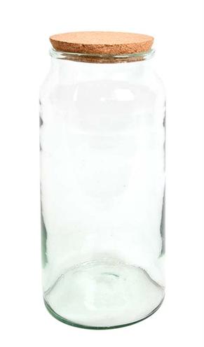 Terrarium fles half open met kurk (18,5X18,5X41,5 CM)