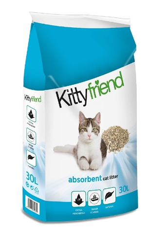 Kitty friend absorbents kattenbakvulling (30 LTR)